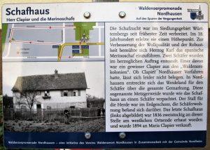 Hinweistafel Schafhaus