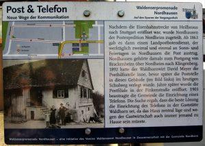 Hinweistafel Post und Telefon