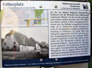 Hinweistafel Kelterplatz