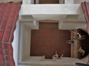 Model des Ruheraumes (von oben)