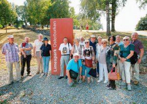 Gruppe vor dem Limespark Osterburken