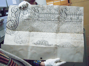 Urkunde von 1749
